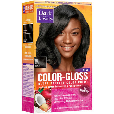 Softsheen-Carson® Dark And Lovely® Color-Gloss Ultra Radiant Color Creme 01 Rich Black 1 kt Box