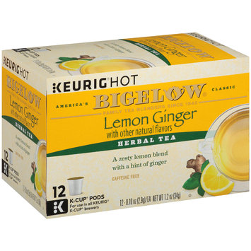 Bigelow® Lemon Ginger Herbal Tea K-Cup Pods 1.2 oz. Box