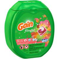 Gain® flings!™ Tropical Sunrise™ Laundry Detergent Pacs 81 ct Plastic Container