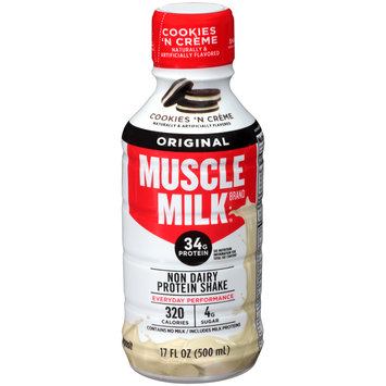 Muscle Milk® Original Cookies 'N Creme Non Dairy Protein Shake 17 fl. oz. Plastic Bottle