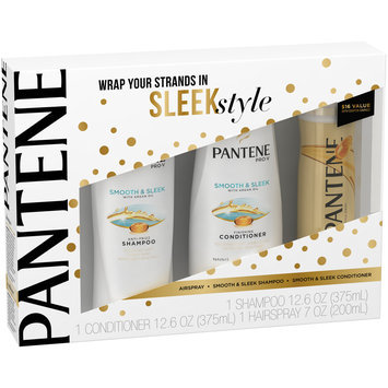 Pantene Smooth & Sleek Shampoo & Conditioner with Airspray