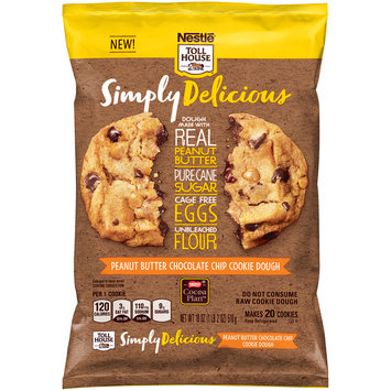 Nestle TOLL HOUSE Simply Delicious Peanut Butter Chocolate Chip Cookie Dough 18 oz. Bar