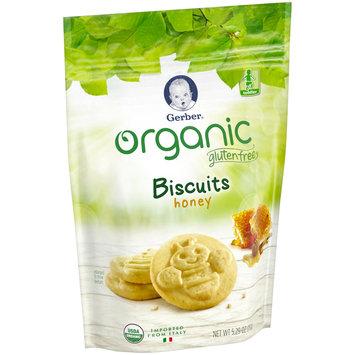 Gerber Organic Gluten Free Honey Biscuits 5.29 oz. Pouch