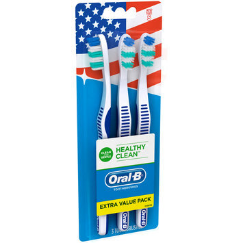 Oral-B® Healthy Clean™ Soft Toothbrushes 3 ct Carded Pack
