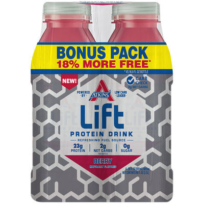 Atkins® Lift Berry Protein Drink Bonus Pack  4-20 fl. oz. Bottles