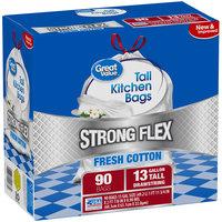 Great Value™ Flex 13 Gallon Fresh Cotton Trash Bags 90ct Box