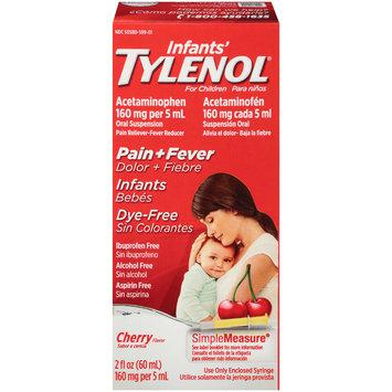 Infants' Tylenol® Pain+Fever Cherry Pain Reliever-Fever Reducer Liquid Oral Suspension 2 fl. oz. Box