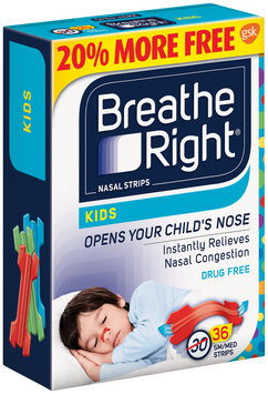 Breathe Right® Kids Small/Medium Nasal Strips 36 ct Box