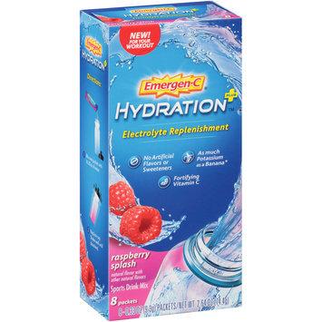 Emergen-C® Raspberry Splash Hydration + Electrolyte Replenishment Sports Drink Mix 8-0.33 oz. Packets