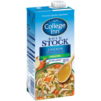 College Inn® Bold Unsalted Chicken Stock 32 oz. Aseptic Carton