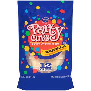 Kroger® Vanilla Ice Cream Party Cups 12-3 fl. oz. Cups