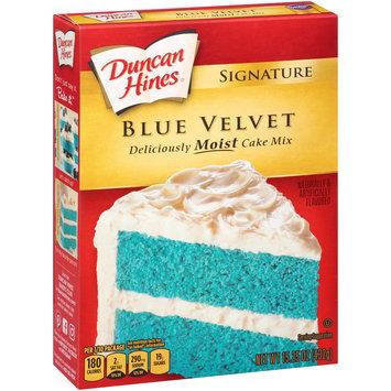 Duncan Hines® Signature Blue Velvet Cake Mix 15.25 oz. Box