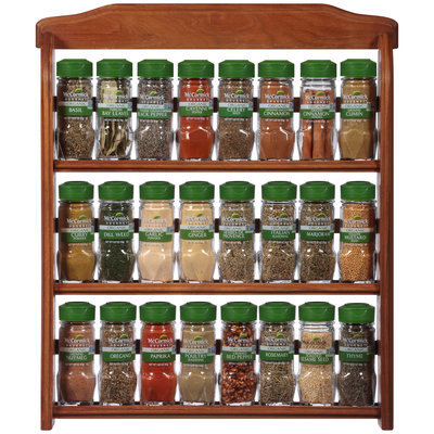 McCormick 24 Piece Wood Spice Rack