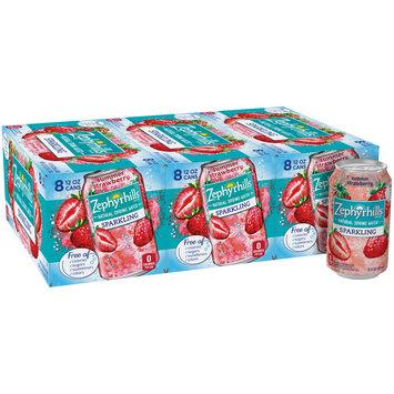 Zephyrhills Summer Strawberry Sparkling Natural Spring Water 8-12 fl. oz. Cans