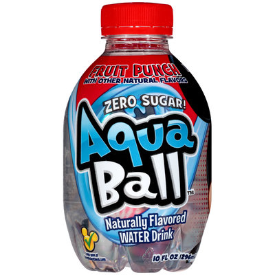 AquaBall™ Fruit Punch Naturally Flavored Water Drink 10 fl. oz. Bottle