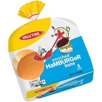 Valu Time Enriched Hamburger Buns 8 ct Bag