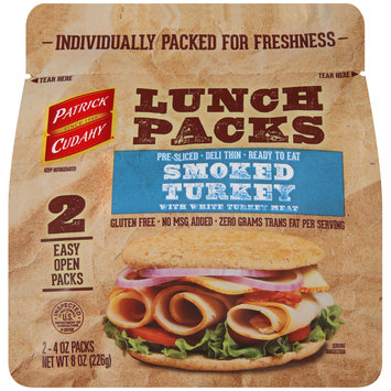 Patrick Cudahy® Lunch Packs Smoked Turkey 2-4 oz. Packs