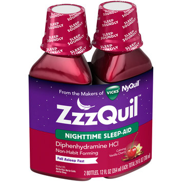Vicks® ZzzQuil™ Calming Vanilla Cherry Nighttime Sleep-Aid Liquid 2–12 fl. oz. Bottles