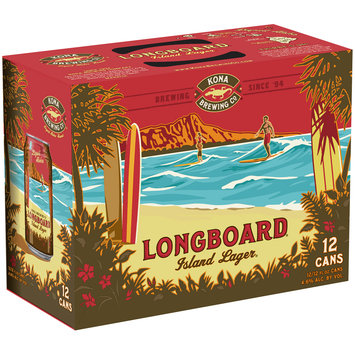 Kona Brewing Co.® Longboard® Island Lager® Beer 12-12 fl. oz. Box