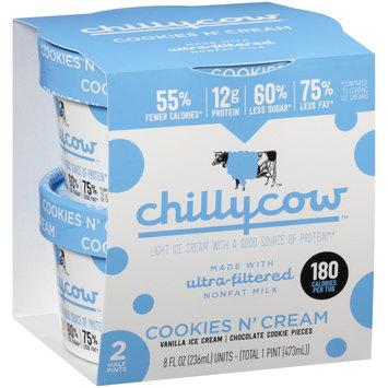 Chillycow™ Cookies N' Cream Ice Cream 2-8 fl. oz. Cartons