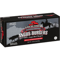 Red Hat Ranch 6 1/3 Pound Homestyle Thickness 100% Angus Beef Burgers 32 oz Box