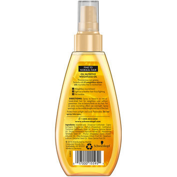 Gliss™ Hair Repair™ Oil Nutritive Weightless Oil 5.1 fl. oz. Spray Bottle