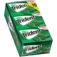Trident Spearmint Sugar Free Gum with Xylitol 15-14 ct Packs