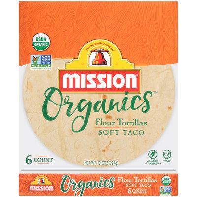 Mission® Organics™ Soft Taco Flour Tortillas 6 ct Bag
