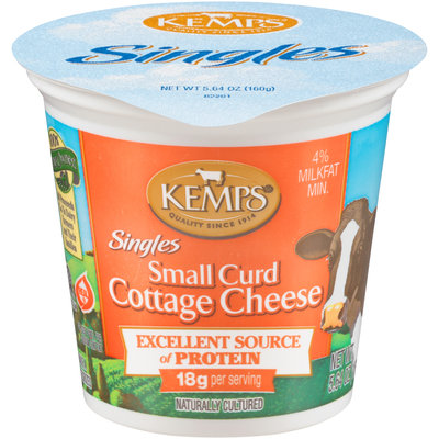 Kemps® Singles 4% Milkfat Small Curd Cottage Cheese 5.64 oz. Cup
