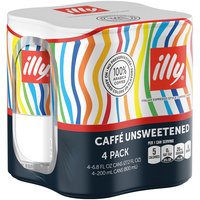 Illy® Caffe Unsweetened Italian Espresso Style Coffee Drink 4-6.8 fl. oz. Cans