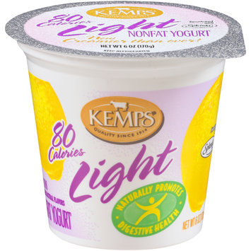 Kemps® Light Lemon Nonfat Yogurt 6 oz. Cup