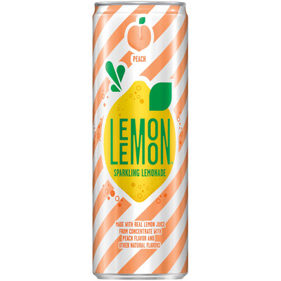 LEMON LEMON™ Peach Sparkling Lemonade Can