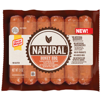 Oscar Mayer Natural Honey BBQ Uncured Pork Sausage 6 ct Pack