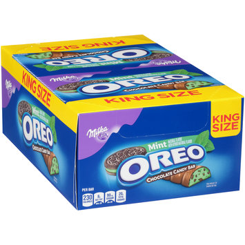 Milka Mint Oreo Chocolate Candy Bar 24-2 ct Wrappers