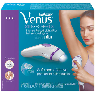 Gillette® Venus™ Silk-Expert 3 Intense Puled Light Hair Removal System 4 pc Box