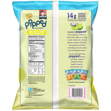 Quaker® Popped® Sea Salt & Lime Rice Crisps 6.06 oz. Bag