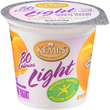 Kemps® Light Peach Nonfat Yogurt 6 oz. Cup