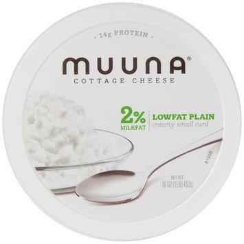 Muuna® 2% Milkfat Lowfat Plain Cottage Cheese 16 oz. Tub