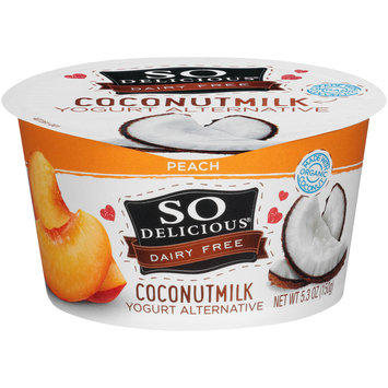 So Delicious® Dairy Free Coconut Milk Peach Yogurt Alternative 5.3 oz. Tub
