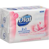 Dial Complete® 2 in 1 Moisturizing & Antibacterial Silk & Magnolia Beauty Bar