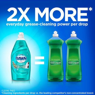Dawn® Ultra Escapes™ New Zealand Springs Scent™ Dishwashing Liquid 532 mL Bottle