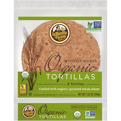 La Tortilla Factory™ Sprouted Wheat Organic Tortillas 7.62 oz. oz. Bag