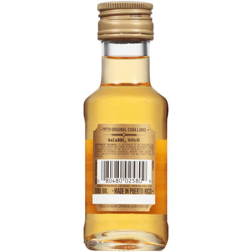 Bacardi® Gold Rum 100mL Bottle