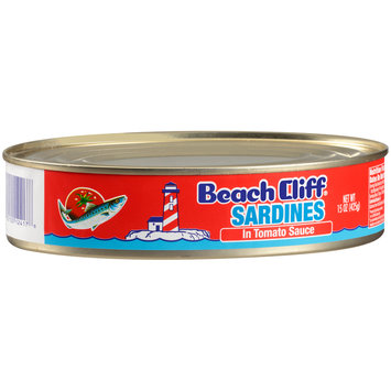 Beach Cliff® Sardines In Tomato Sauce 15 oz. Can