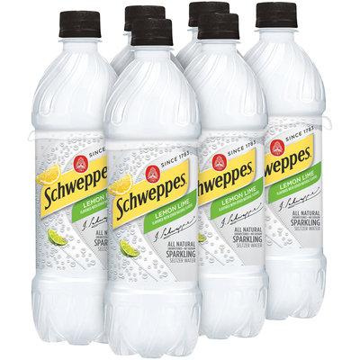 Schweppes Lemon Lime Sparkling Seltzer Water 6-16.91 fl. oz. Bottles