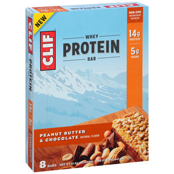 Clif® Peanut Butter & Chocolate Whey Protein Bars 8-1.98 oz. Bars