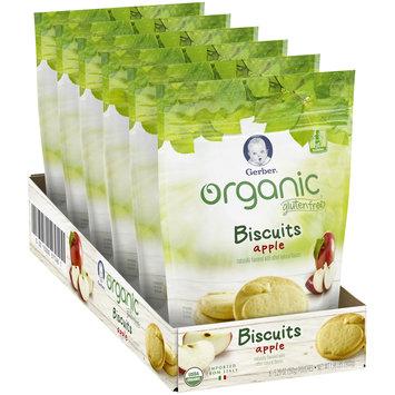 Gerber Organic Gluten Free Apple Biscuits 5.29 oz. (Pack of 6)