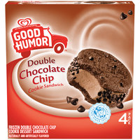 Good Humor™ Frozen Double Chocolate Chip Cookie Sandwich 4 ct Box