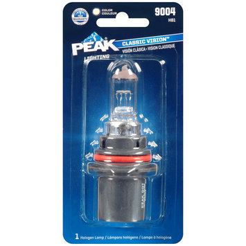 PEAK® Lighting Classic Vision™ Clear Halogen Lamp 9004 Carded Pack