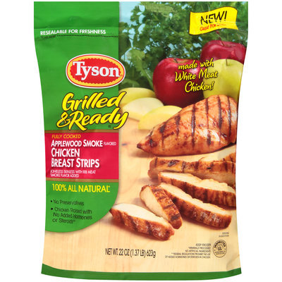 Tyson® Grilled & Ready® Applewood Smoke Flavored Chicken Breast Strips 22 oz. Bag